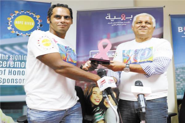 المهندس ماجد حمدي والكابتن انور الكموني مؤسس الحملة