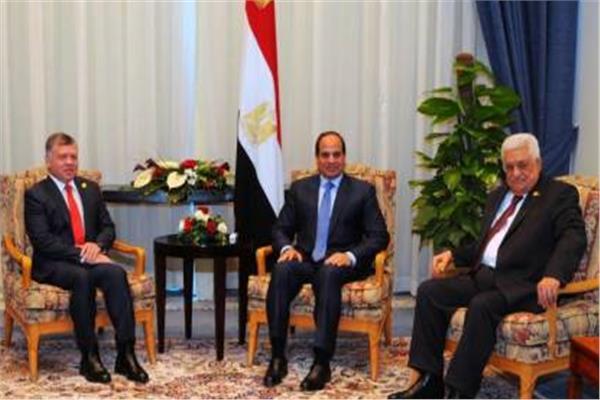قمة ثلاثية مصرية أردنية فلسطينية بقصر الاتحادية