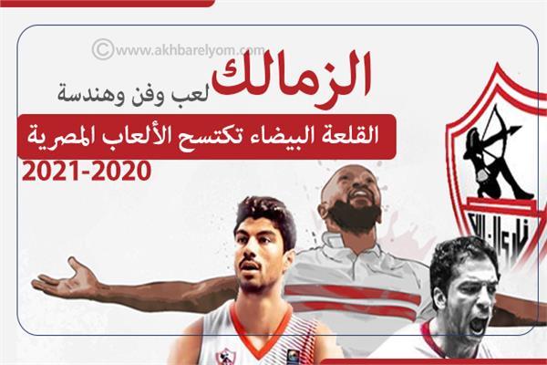 إنفوجراف | «الزمالك لعب وفن وهندسة»..القلعة البيضاء تكتسح الألعاب المصرية