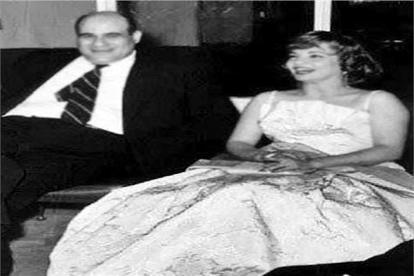 شادية مع الكاتب الكبير مصطفى أمين