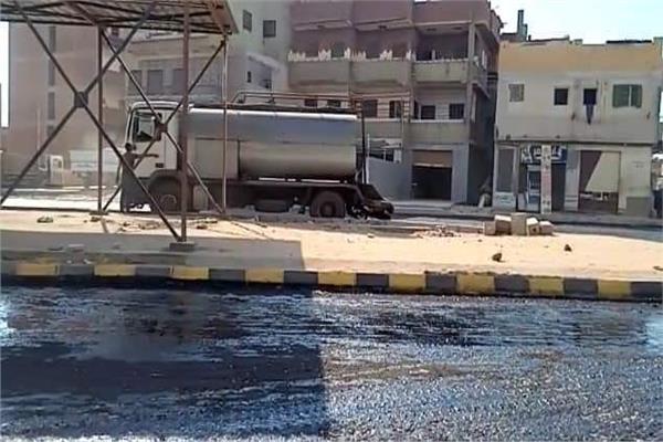 رصف شارع النصر