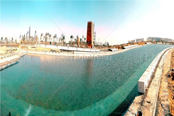أول بحيرة صناعية ضمن مشروع الحدائق المركزية