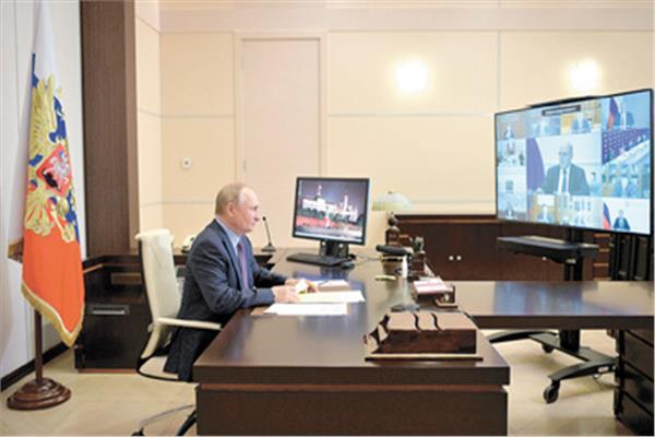 بوتين أثناء مشاركته فى قمة منظمة معاهدة الأمن الجماعى     «صورة من أ ف ب»