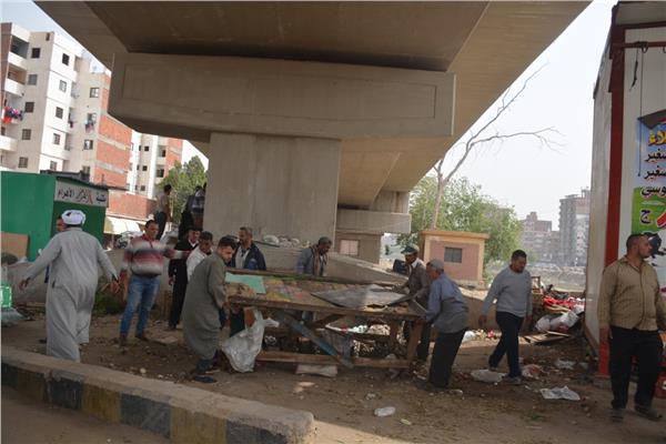 إزالة الإشغالات بمدينة بنها
