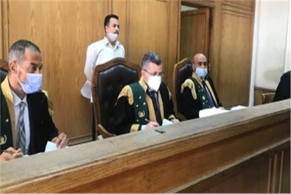 هيئة المحكمة برئاسة المستشار محمد أحمد الجندي