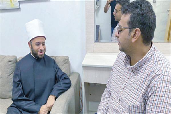 ■ د. أسامة الأزهرى مستشار الرئيس خلال حواره مع «الأخبار»