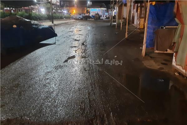 الأمطارالخفيفة تضرب مدن إدكو ورشيد والمحمودية بالبحيرة