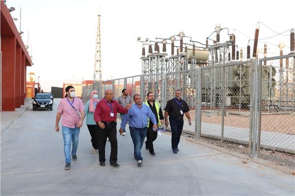 خلال تفقد محطة كهرباء المنطقة الصناعية الثامنة