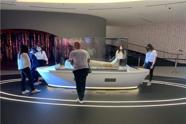 التابوت الأثري المشارك في معرض إكسبو دبي ٢٠٢٠
