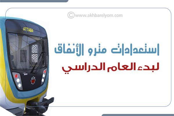 إنفوجراف | مترو الأنفاق يعلن استعدادات لبدء العام الدراسي