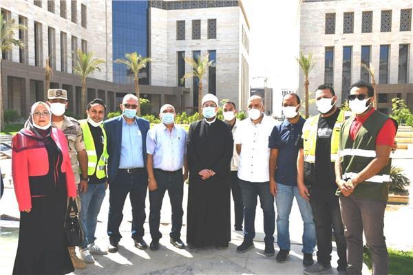 د/ محمد مختار جمعة وزير الأوقاف خلال تفقده مبنى الوزارة الجديد بالعاصمة الجديدة