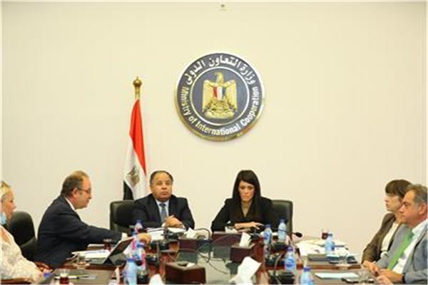 جانب من لقاء وزيرة التعاون الدولي والمالية