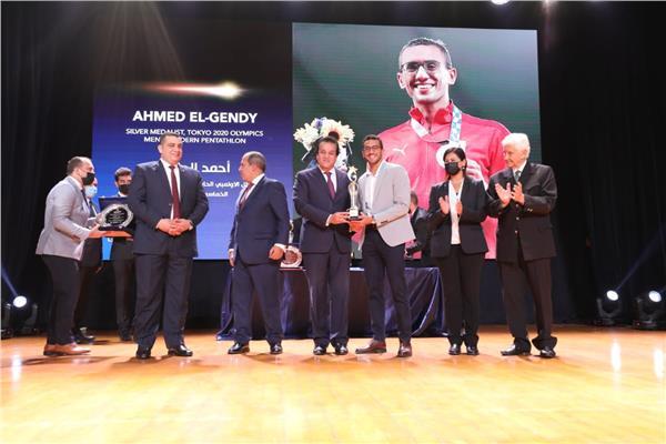 احتفالية تكريم أبطال طوكيو 2020 بمقر الجامعة البريطانية في مصر