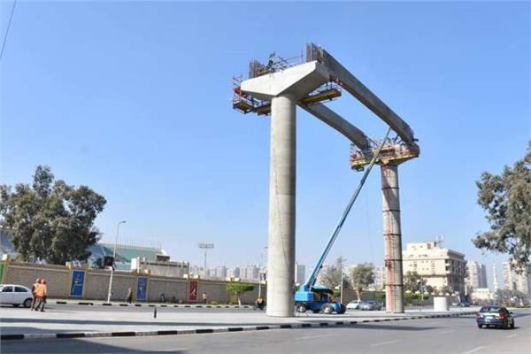 محيط أعمال إنشاء مشروع المونوريل بمدينة نصر