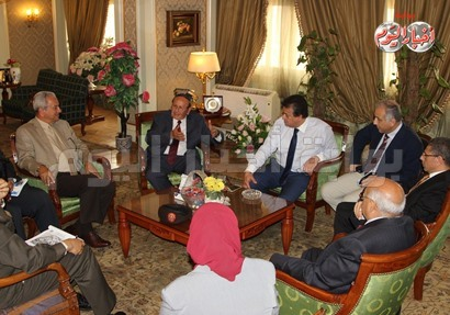 لقاء الوزير مع رئيسا النيل وزويل