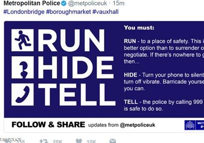 تغريدة الشرطة البريطانية