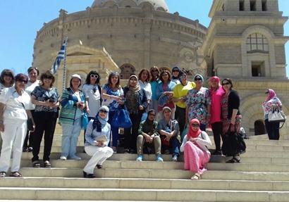 صورة من الجولة السياحية لعلماء مصر تستطيع