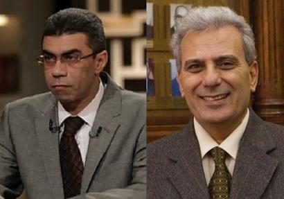 رئيس جامعة القاهرة د.جابر نصار ورئيس مجلس إدارة أخبار اليوم الكاتب الصحفي ياسر رزق
