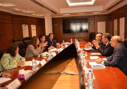 وزيرة التخطيط تلتقي وزير قطاع الأعمال العام ومحافظ دمياط