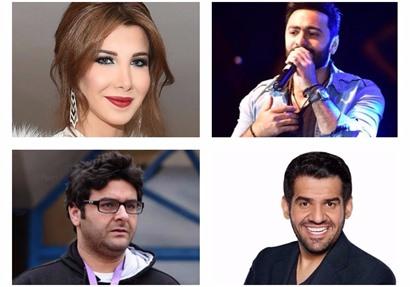 تامر حسني ونانسي عجرم والجسمي ووليد منصور