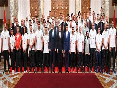 4 رسائل من الرئيس لأبطال «ألعاب البحر المتوسط» خلال تكريمهم