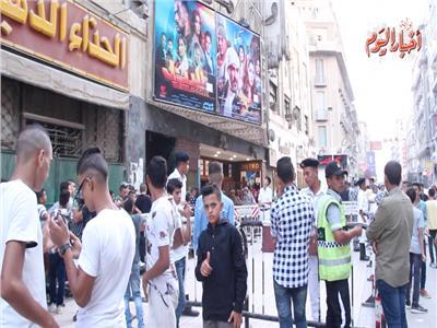 فيديو| إقبال متوسط على سينمات وسط البلد في أول أيام العيد