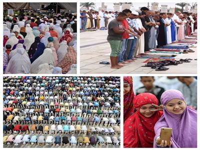 صور وفيديو| صلاة عيد الأضحى في 8 دول بينها فرنسا