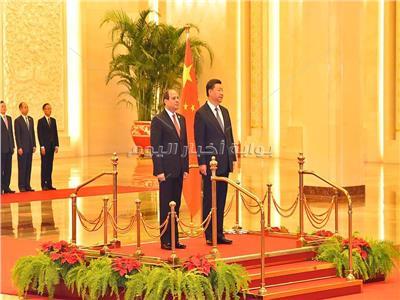 متحدث الرئاسة ينشر فيديو استقبال السيسي فى قاعة الشعب الكبرى بالصين