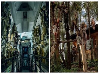 صور| «مدينة الأشباح» و«كنيسة العظام» أكثر الأماكن رعبًا حول العالم