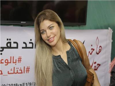 صور| ياسمين الخطيب تشارك بمبادرة «هاخد حقي».. وتدعم النساء ضد المتحرشين