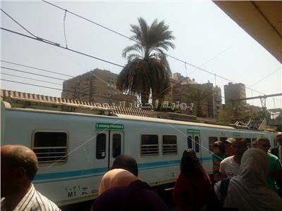 تعطل مترو الأنفاق بمحطة «سراي القبة»