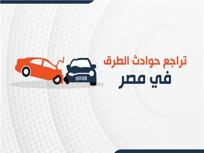بالإنفوجراف | تراجع حوادث الطرق في مصر