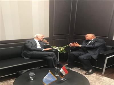 وزير الخارجية يلتقي مبعوثي الأمم المتحدة لكل من ليبيا وسوريا