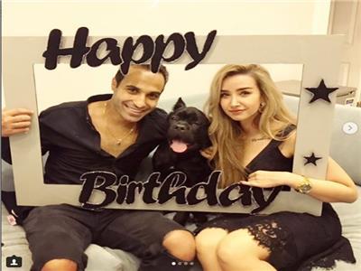 هنا الزاهد تحتفل بعيد ميلاد أحمد فهمي