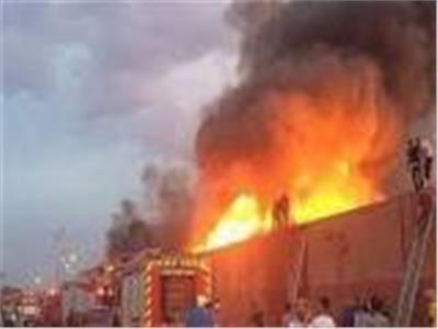 السيطرة على حريق بمصنع للبلاستيك في شبرا الخيمة