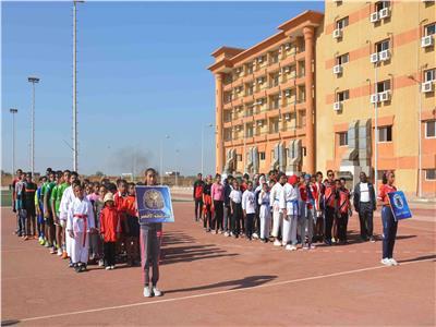 افتتاح مشروع اللقاءات الرياضية لتلاميذ المدارس بالمحافظات الحدودية