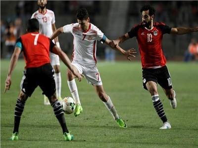 انطلاق الشوط الثاني من مباراة مصر وتونس