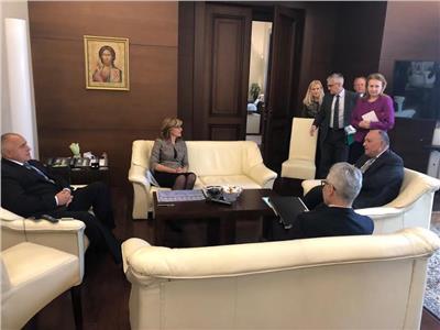 رئيس وزراء بلغاريا يستقبل وزير الخارجية بمقر رئاسة الوزراء في صوفيا
