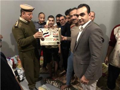 مديرية أمن الغربية توزع حلوى المولد على المحجوزين