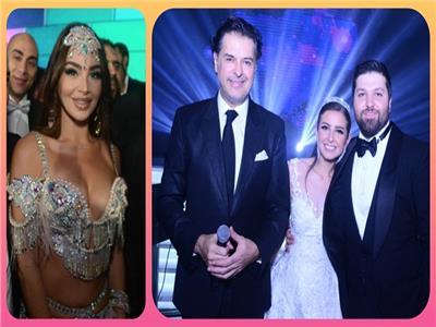 صور| راغب علامة وجوهرة نجما زفاف ابن رجل الأعمال عمرو المرصفاوي