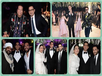 صور| أحمد عيد وفلوكس في زفاف «خليل ورشا».. و وأوكا وأورتيجا يحيان الحفل