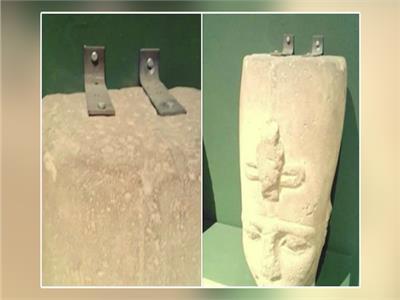 بالصور| جدل بعد تثبيت رأس تمثال رمسيس الثاني بـ«مسمارين»