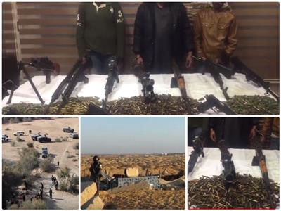 فيديو| ضبط 5 متهمين بحيازة أسلحة غير مرخصة ومخدرات بالإسماعيلية