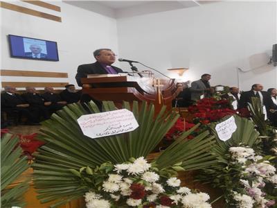 رئيس الطائفة الإنجيلية يودع راعي كنيسة بورسعيد