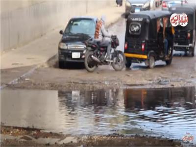 فيديو  مياه الصرف الصحي تعطل حركة المرور في نفق «رملة بولاق»