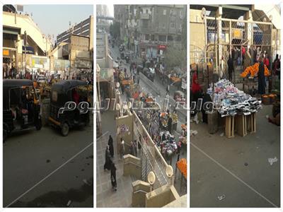 فيديو وصور| «الباعة الجائلين والتوكتوك» يحتلون مدخل محطة مترو فيصل