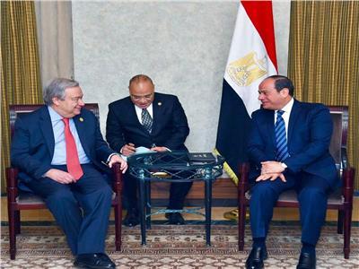 سكرتير الأمم المتحدة يهنئ الرئيس السيسي بتولي مصر رئاسة الاتحاد الأفريقي