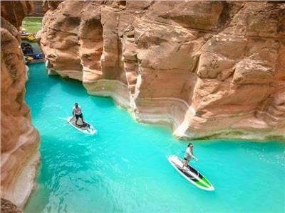 وادي الوشواش.. «حمام سباحة طبيعي» اكتشفه البدو في «الجميلة نويبع»