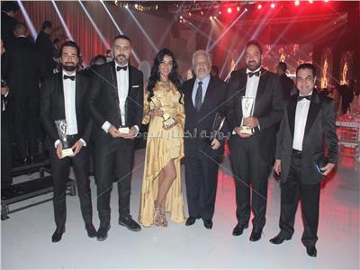 بالصور  تكريم طارق لطفي وخالد سليم وأحمد حاتم بمهرجان «كريستال اوارد» بلبنان