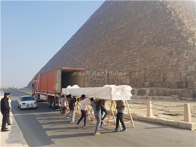 المتحف المصري الكبير يستقبل 35 قطعة خشبية من مركب خوفو الثانية